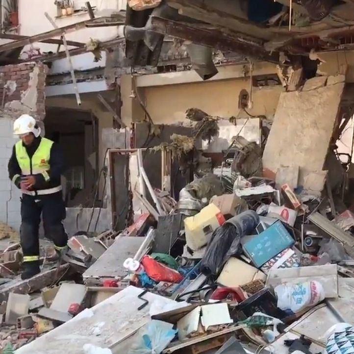 Comienza el desescombro del restaurante que explotó en Pozuelo