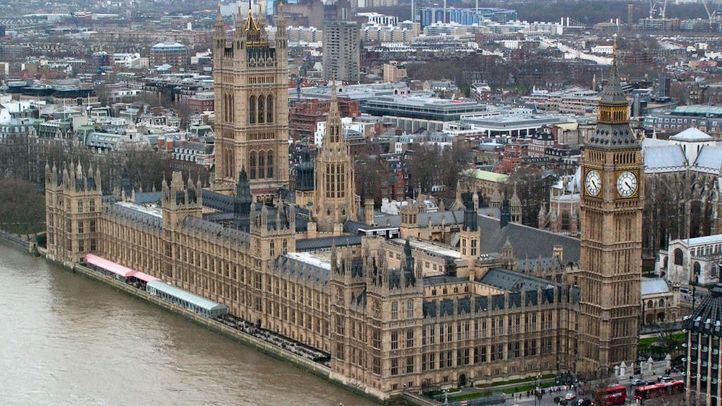 El Parlamento británico en una vista aérea.