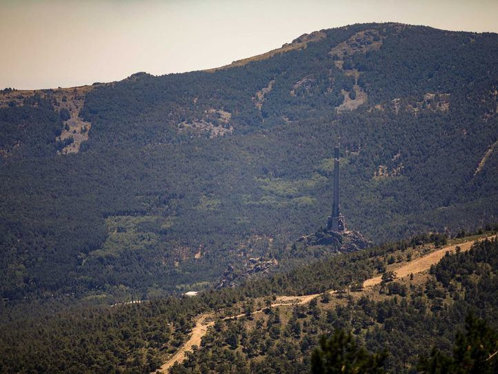 Vista del Valle de los Caídos desde el Collado de la Mina.
