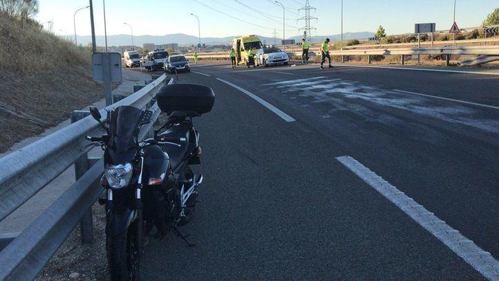 Accidente de moto en la M-12.