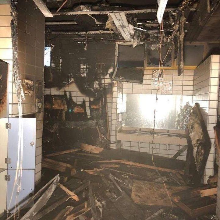 Arden las saunas del José Caballero de Alcobendas