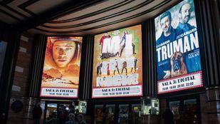 Entrada del cine Capitol, en Gran Vía.