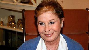 Lina Morgan durante una entrevista a Madridiario en el teatro de La Latina.