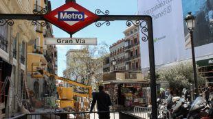 La estación de Metro de Gran Vía cierra desde este lunes