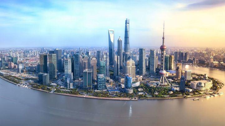 Skyline de la ciudad de Shanghái