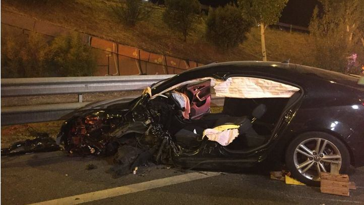 Accidente múltiple en la M-30 provocado por un conductor kamikaze.