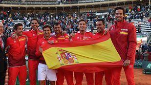 El último equipo español que participó en la Davis.