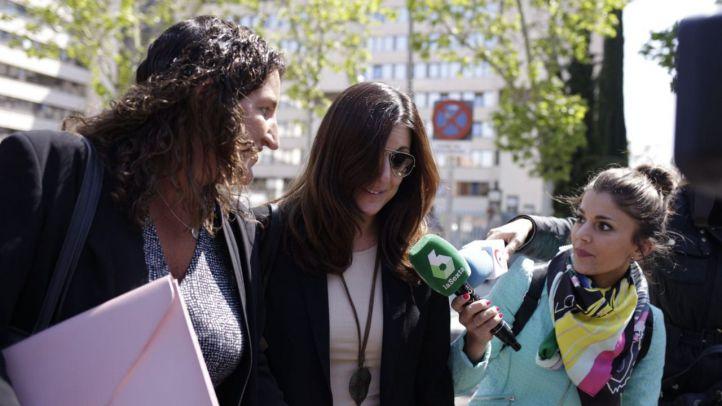 Clara Souto, a su llegada al juzgado, en una imagen de archivo.