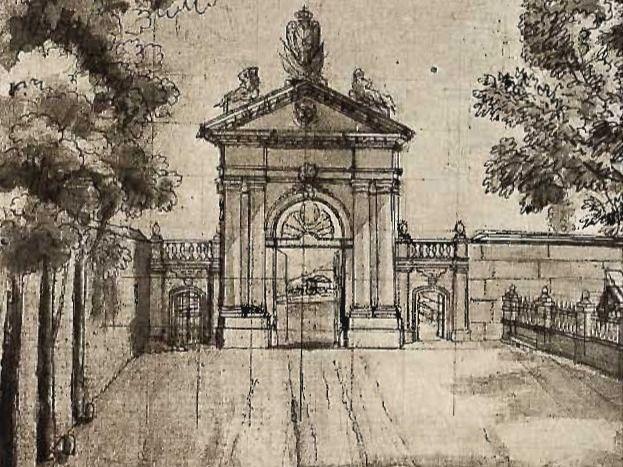 Boceto de la Puerta de Recoletos.
