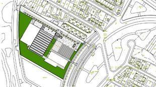 Planos del nuevo polideportivo de la calle Mistral, en Barajas.