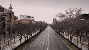 El sobrecogedor Madrid vacío de Pereira