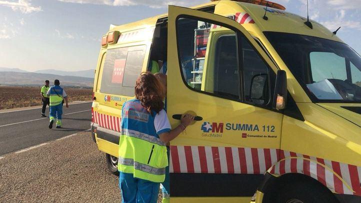 Muere un motorista de 65 años en Talamanca de Jarama