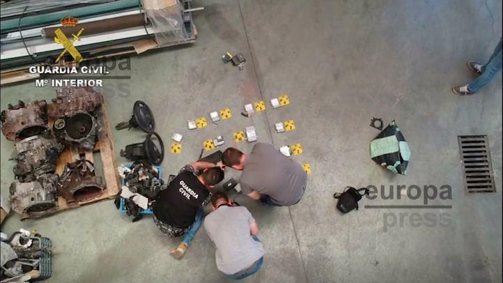 Desmantelada una banda dedicada al robo y despiece de coches en Pinto
