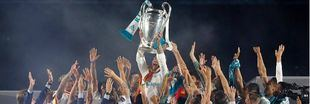 Celebración del Real Madrid por la Champions League