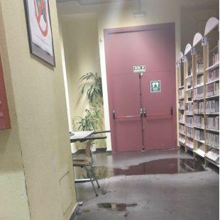 La biblioteca de la 'Complu' cierra hasta el miércoles por goteras