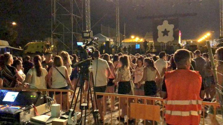 La lluvia suspende el concierto de Maldita Nerea en Alcorcón