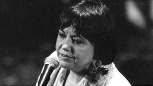 La cantautora Elisa Serna, fallecida a los 75 años de edad en Madrid.