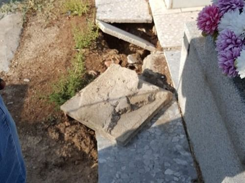 Desperfectos en el cementerio de Fuenlabrdada.