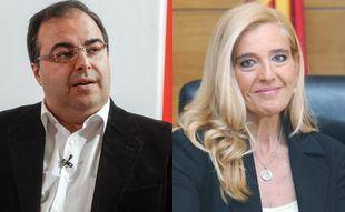 Santiago Llorente y Mariola Vargas, alcaldes de Leganés y Collado Villalba