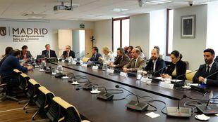 Imagen del día que quedó constituida la comisión de investigación de BiciMAD.