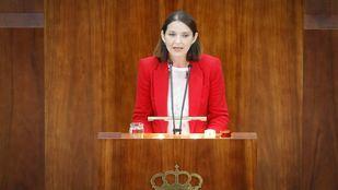 La ministra Reyes Maroto en su etapa como diputada autonómica.