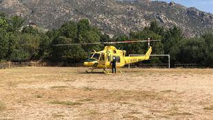 Un ciclista, trasladado en helicóptero por una grave caída