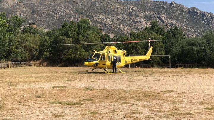 Helicóptero del Summa 112.