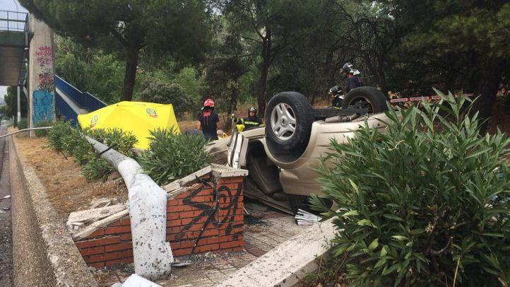 El acidente ha tenido lugar en la A-6.