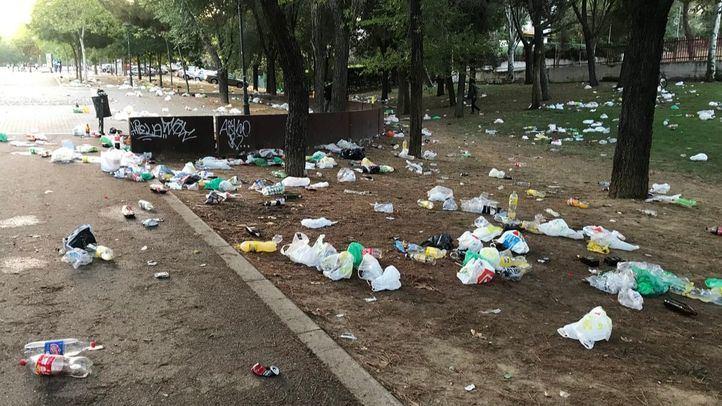 Parque de Andalucía tras el festival Amanecer Bailando en Móstoles.