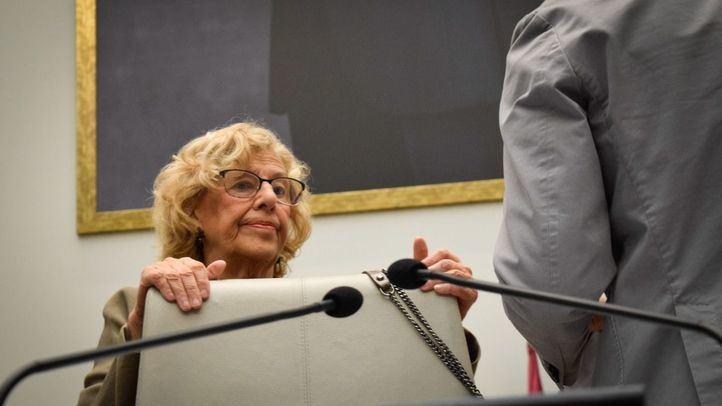 Manuela Carmena, en un Pleno del Ayuntamiento.