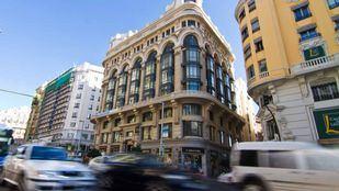 Fachada del edificio Matesanz en la calle Gran Vía.