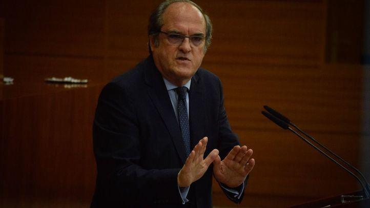 Ángel Gabilondo, en la Asamblea de Madrid.