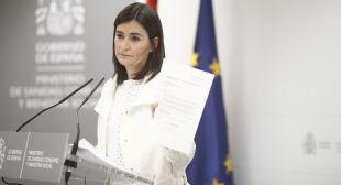 Carmen Monzón, ministra de Sanidad, Consumo y Bienestar Social, en la rueda de prensa