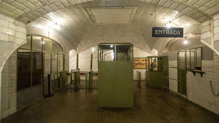 Estación de metro de Chamberí que puede ser visitada.