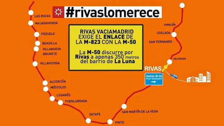 Rivas Vaciamadrid exige el enlace directo con la M-50.