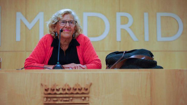 Manuela Carmena, el día que confirmó su candidatura a la alcaldía en las elecciones de 2019.