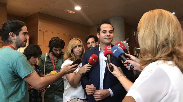 Ignacio Aguado esta mañana en declaraciones a prensa.