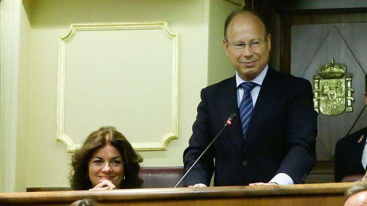 El diputado, en su toma de posesión en la Cámara Baja.
