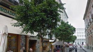 Calle del Correo, lugar donde se produjo el atentado.