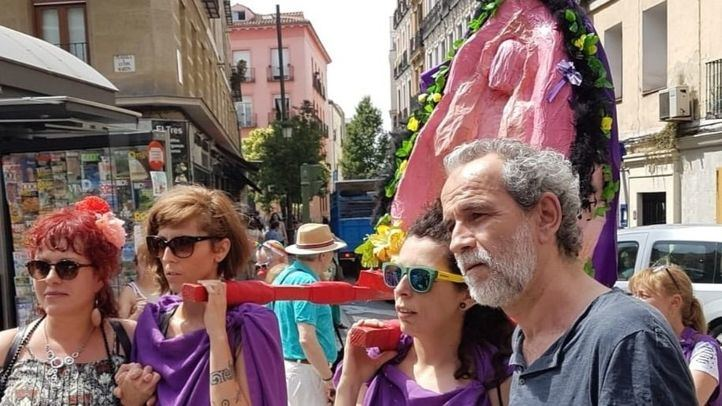 Willy Toledo, en junio, cuando cambió una manifestación por los juzgados