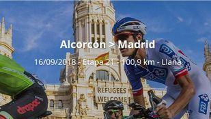 La última etapa de La Vuelta a España comienza en Alcorcón y acaba en Cibeles.