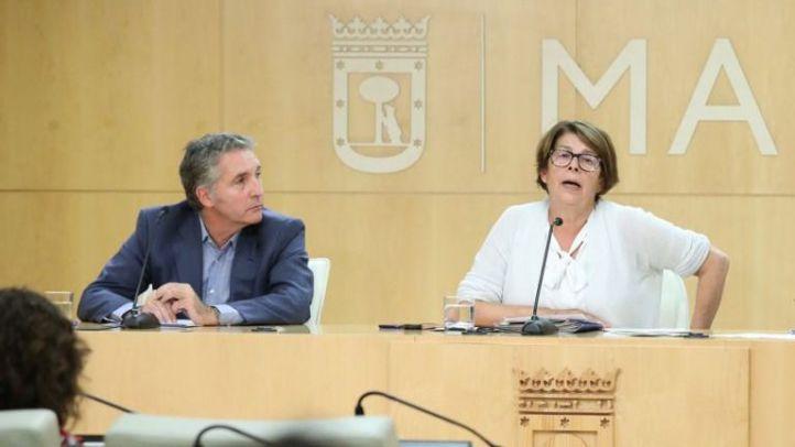 Inés Sabanés, delegada de Medio Ambiente y Movilidad del Ayuntamiento de Madrid, explica el nuevo mapa de Áreas Acústicas.