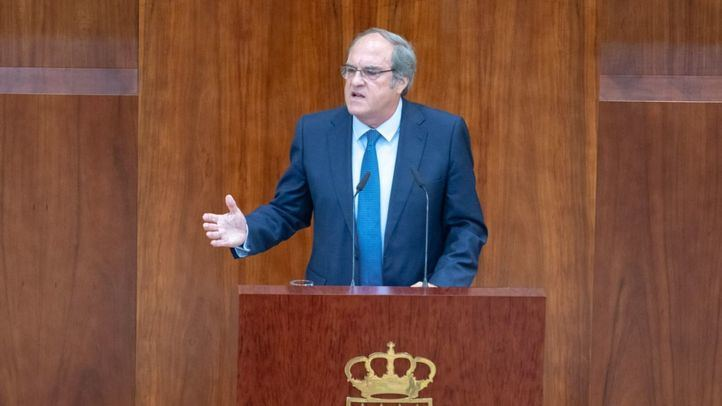 El portavoz de PSOE en la Asamblea de Madrid, Ángel Gabilondo, interviene en el Debate del Estado de la Región.