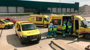 Un hombre de 35 años ha resultado herido grave al caerle encima un toro mecánico mientras descargaba un camión en Getafe