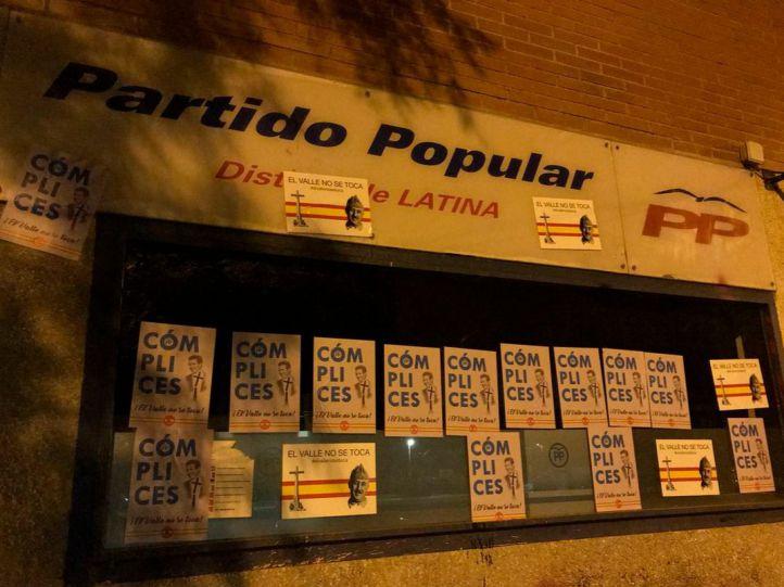 Las pintadas franquistas, también en sedes del PP