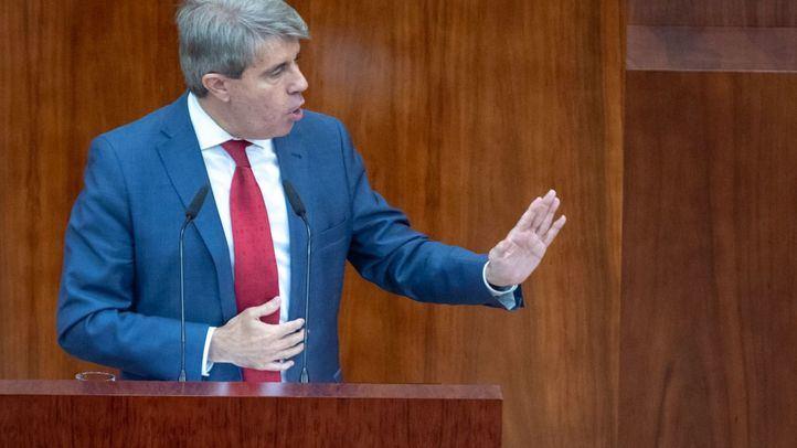 Ángel Garrido, durante su intervención en el Debate sobre el Estado de la Región