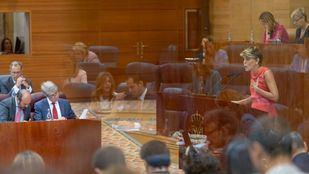 Un momento de la cita política en la Asamblea de Madrid.