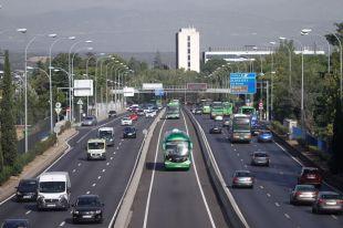 Bus VAO de la autovía A6.