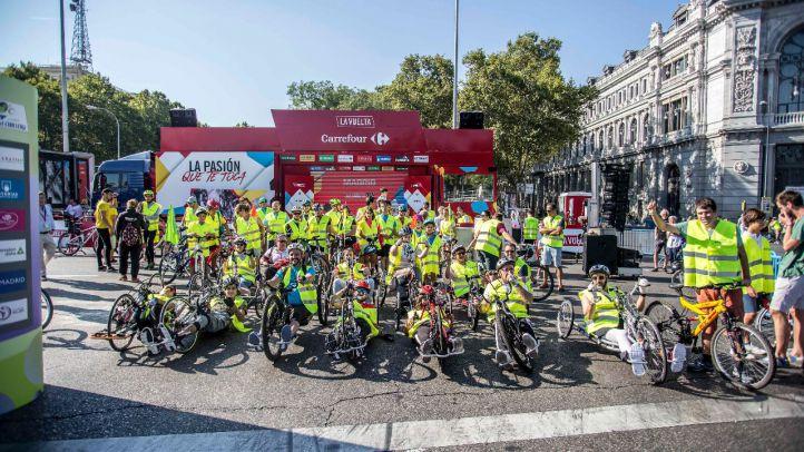 Carrera Inclusiva en el tramo final de la Vuelta Ciclista por Madrid