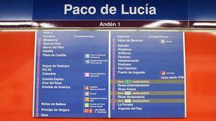 Estación de Metro Paco de Lucía en la línea 9.